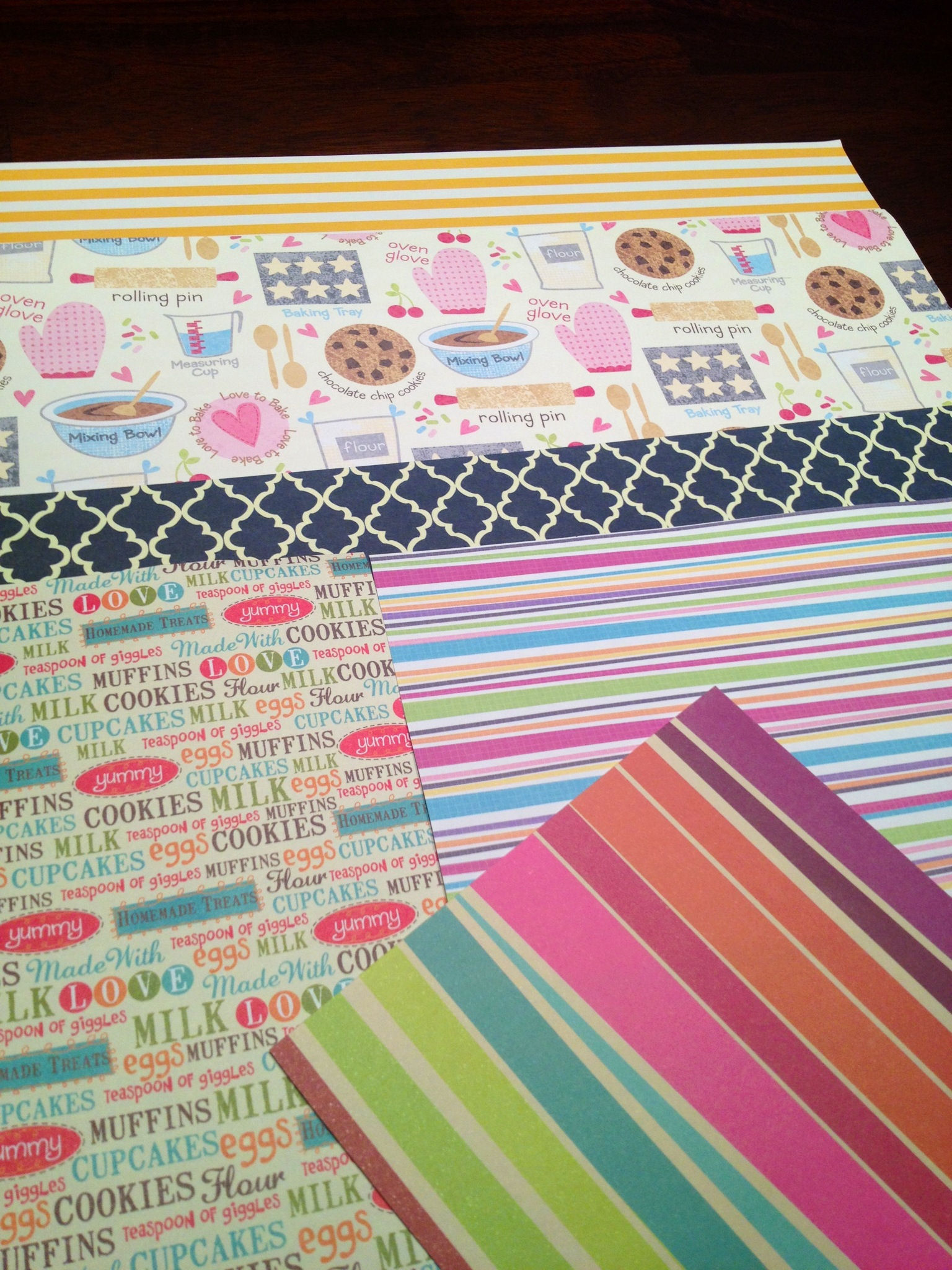 Scrapbook paper examples - Examples Of Scrapbook Paper For Your Recipe Box