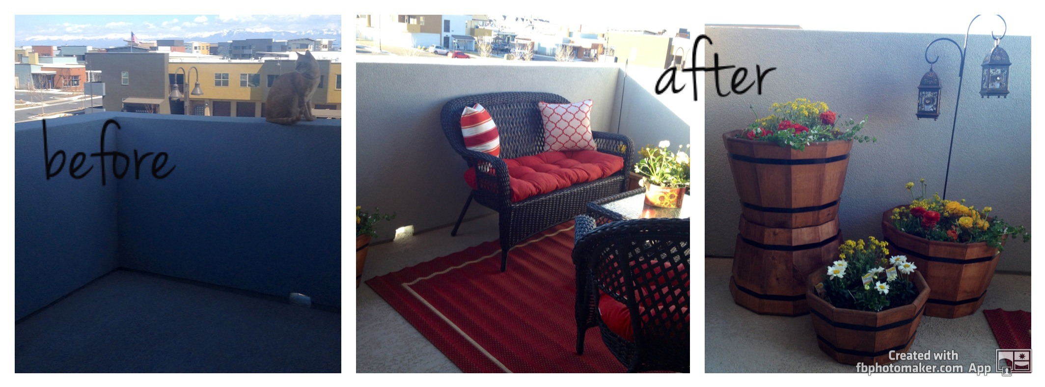 Creating an outdoor living space before after for Creating an outdoor living space
